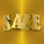 Sale, Gold Metal Letters — Stock Photo