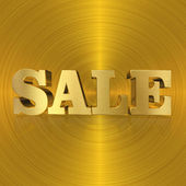 Sale, Gold Metal Letters — 图库照片