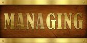 Vintage Door Plate, Managing — Stock Photo