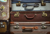 Stacked suitcases — Stock Photo