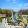 Peterhof. Grand cascade. Samson fountain — Stock Photo #58862755