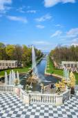 Peterhof. Grand cascade. Samson fountain — Stock Photo