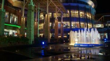 Phuket, Jungceylon inside, fountain, time lapse — Stock Video