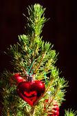 Fir with christmas toys — Stock Photo