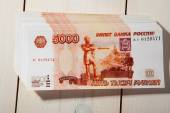 Russian ruble banknotes — Stock Photo