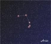 Constelação de aries — Vetorial Stock