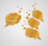 Ge mig feedback pratbubbla med Tom bubblor — Stockvektor