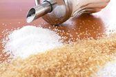 Brown and white sugar — Stock Photo