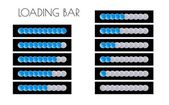Blue loading bars — Stock Vector