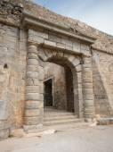 Gate at Spinalonga fortress, Crete, Greece — Stockfoto