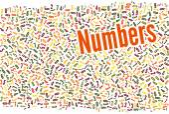 Numbers word cloud — Stock Photo