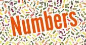 Numbers word cloud — Stockfoto