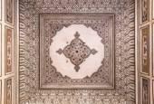 Decorated cieling at the Hawa Mahal — Stock Photo