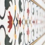 Mughal stone art, Taj Mahal, India — Stock Photo #70235099