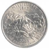 Mississippi state quarter — Stockfoto