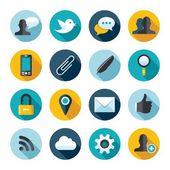 Flat web icons — Stock Vector
