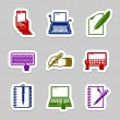 escritura icon set — Vector de stock  #59528907