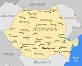 Romania map — Stock Vector