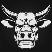 Ferocious bull — Stock Vector