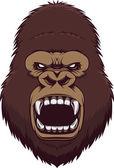 Angry gorilla head — Stock Vector