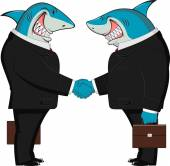 Sharks in business — 图库矢量图片