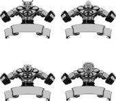 Vector set, Design medals, symbols — Stock vektor