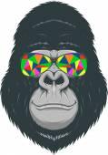 Cheerful monkey — Stock Vector