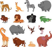 Funny animals — Stock Vector