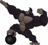 Monkey athlete — Vecteur