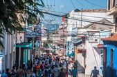 People walking in Santiago de Cuba, Cuba — Stock Photo