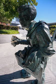 SAN FRANCISCO, CA, SEPT 22, 2010 - Shaking Man sculpture created by Terry Allen and interpreted as  representation of parkinsonism stay outdoor at Yerba Buena Center on Sept 22, 2010 in San Francisco — Stock Photo