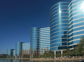 REDWOOD CITY, CA, USA - SEPT 24, 2008: The Oracle Headquarters located in Redwood City, CA, USA on Sept 24, 2008. Oracle is a multinational hardware and software technology corporation — Stock Photo