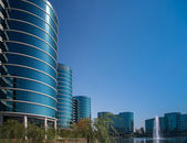REDWOOD CITY, CA, USA - SEPT 24, 2008: The Oracle Headquarters located in Redwood City, CA, USA on Sept 24, 2008. Oracle is a multinational hardware and software technology corporation — Stok fotoğraf