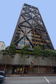 SAN FRANCISCO, US - OCT 3, 2012: Office tower One Maritime Plaza in San Francisco on Oct 3, 2012. It's one of the first buildings to use seismic bracing in the form of external trusses and X-braces — Stock Photo