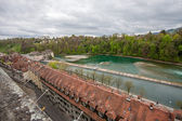 Riverside Matte district at river Aare in Bern — Stock Photo