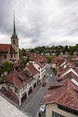 Aerial view of cityscape Bern, the Swiss capital and Unesco World Heritage city, Switzerland — Stock Photo