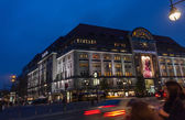 BERLIN, GERMANY - NOVEMBER 12, 2014: Buyers aim to Kaufhaus Des Westens department store in Berlin, Germany on November 12, 2014. KaDeWe is the second-largest department store in Europe — Stock Photo