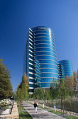 редвуд сити, калифорния, сша - сентябрь 24, 2008: oracle штаб расположен в редвуд-сити, ca, сша на сентябрь 24, 2008. oracle является многонациональной корпорации технологий аппаратного и программного обеспечения — Стоковое фото