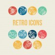 Rounded Stamp Retro Icons Set — Stock Vector #73362997