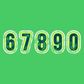 6 7 8 9 0 - Grunge Colorful Retro Numbers — Stock Vector