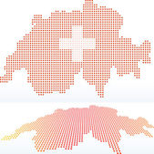 Map of Switzerland, Swiss Confederation with with Dot Pattern — Stock Vector