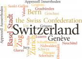Illustration of the Swiss Cantons — Stock Vector