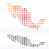 Map of United Mexican States with Dot Pattern — Stock Vector