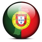 ポルトガル共和国の旗ボタンをマップします。 — ストックベクタ