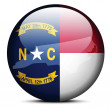 Map on flag button of USA North Carolina State — Stock Vector #67824431