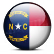 Map with Dot Pattern on flag button of USA North Carolina State — Stock Vector #67824465