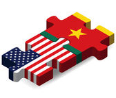 USA and Cameroon Flags in puzzle  — Stockvector