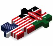 USA and Kenya Flags in puzzle  — Wektor stockowy