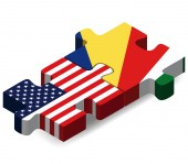 USA and Seychelles Flags in puzzle — Stockvektor