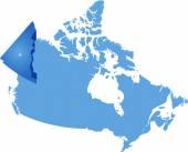 Map of Canada - Yukon Territory — Stock Vector